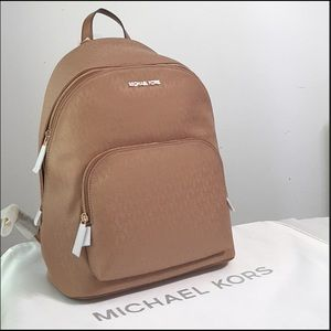 Micheal Kors Connie Dark brown Khaki Backpack.